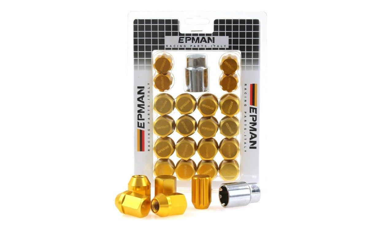 Nakrętki EPMAN RS M12x1.25 Gold Zabezpieczające - GRUBYGARAGE - Sklep Tuningowy